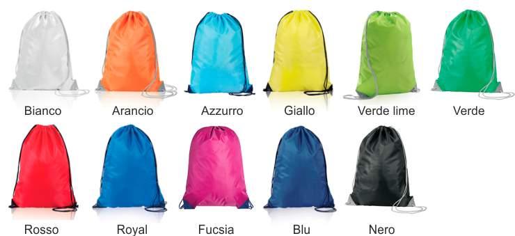 sacche zaino colori